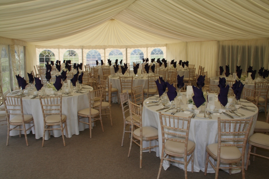 Marquee wedding receptions